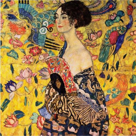 Дама с веером Г.Климт 1918г.